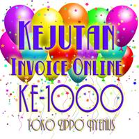 Kejutan Invoice Online Toko Zippo Nyenius ke-1000